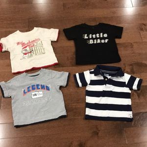 4 tops/shirts for 12-18 months